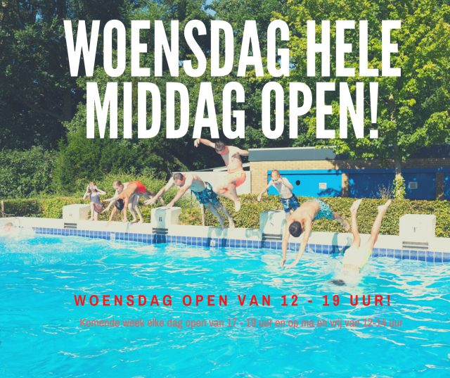 Extra open woensdag 16 september